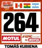 Dakarská startovní čísla