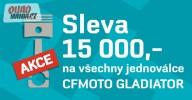 15.000,- sleva na všechny jednoválcové Gladiatory!